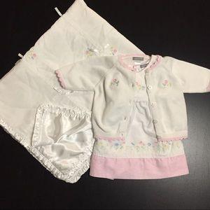 Carter's Sweet Daisy Dress, Cardigan, Blanket Set